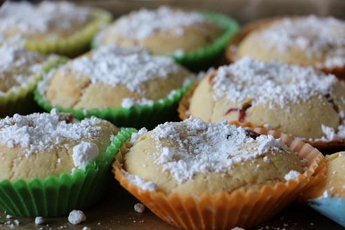 Кексы с сахарной пудрой