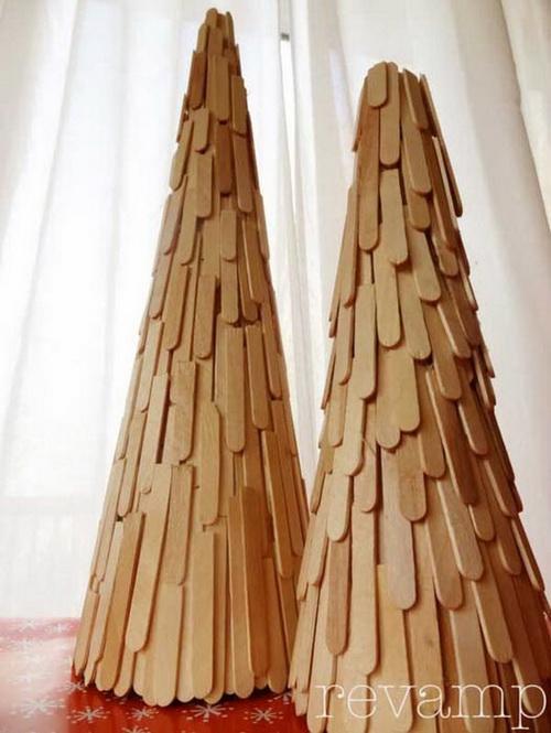 как сделать елку из разных материалов картинки
