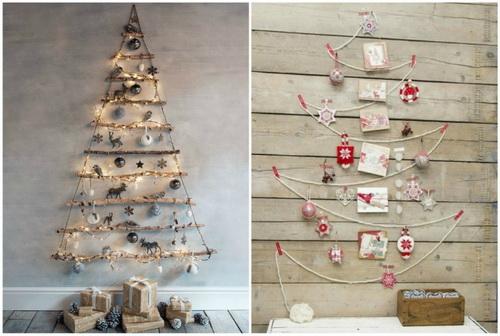 новогодняя елка из разных материалов