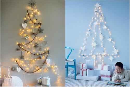 новогодняя елка из разных материалов фото