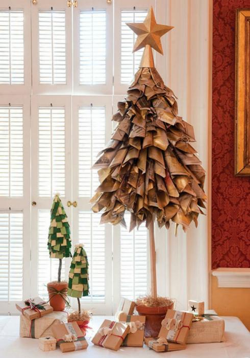 елки поделки из разных материалов фото