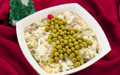 Как украсить салат оливье фото