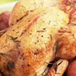 Курица целиком с картошкой в духовке
