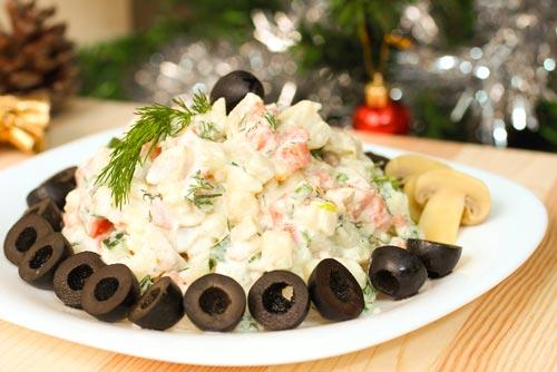 Оливье: вегетарианский рецепт
