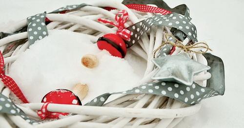 Венок на Новый год 2016 как украшение
