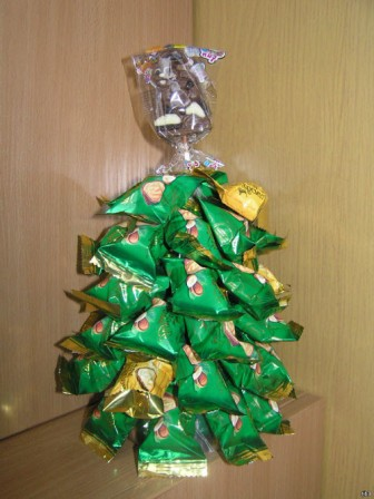 елка из конфет своими руками пошаговое фото