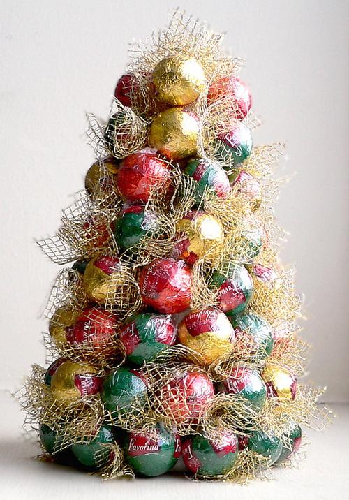 новогодние елки своими руками из конфет
