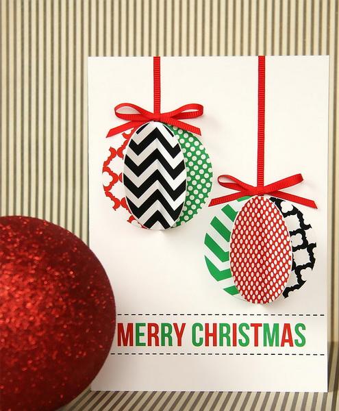 Открытки на Рождество своими руками из бумаги