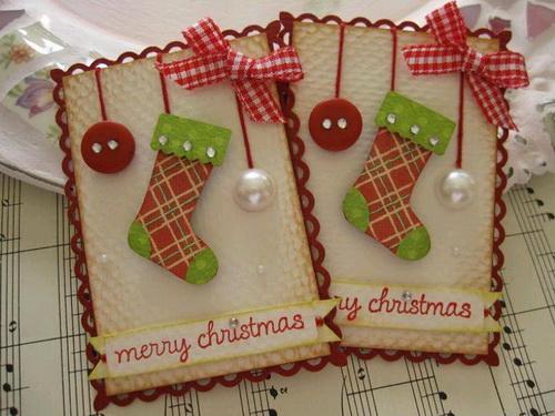 открытки с рождеством своими руками фото