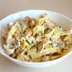 Яичные блинчики для салата: рецепт
