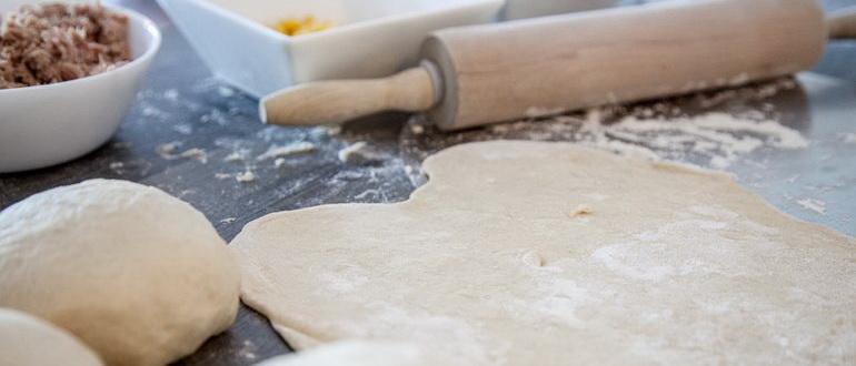 Пористое тесто для пиццы