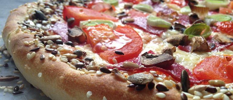 пицца с кунжутом