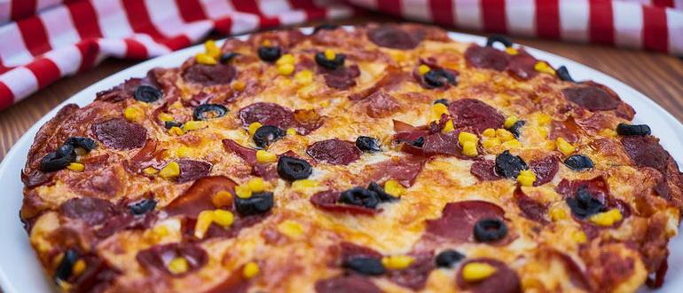 классическая простая пицца