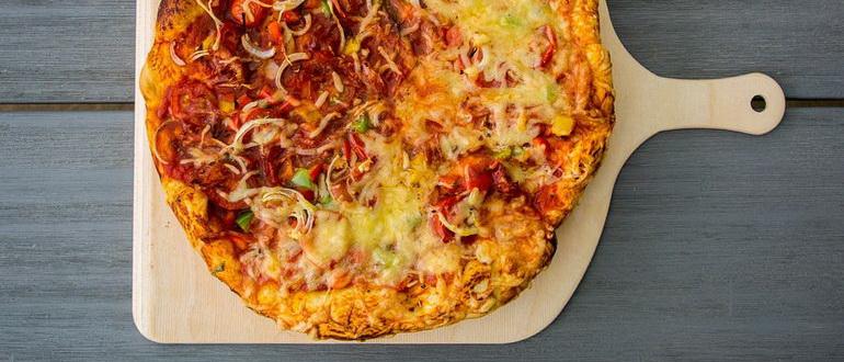 как приготовить пиццу на сковороде в домашних условиях