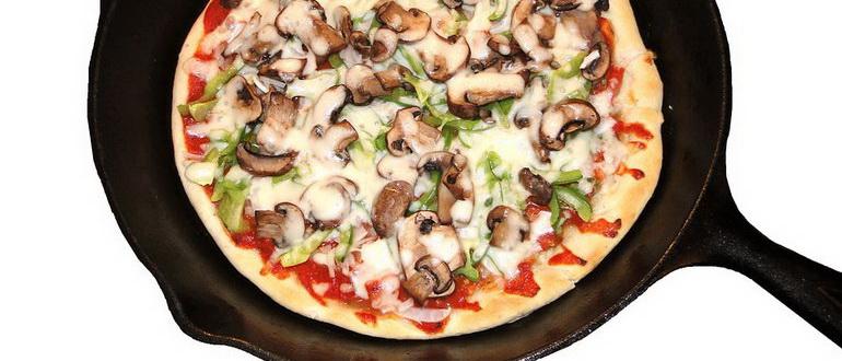 пицца на сковородке за 5 минут