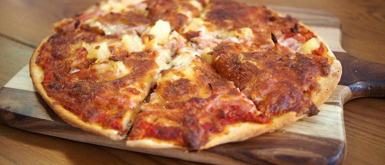 пицца с оливковым маслом